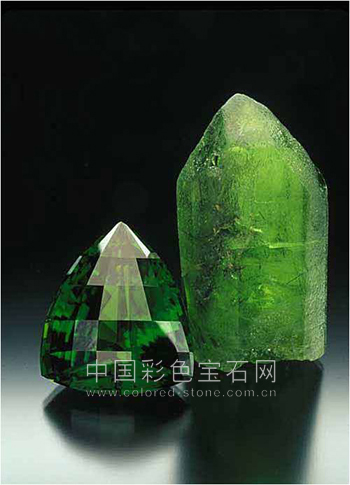 橄榄石,peridot,天然,中国彩色宝石网