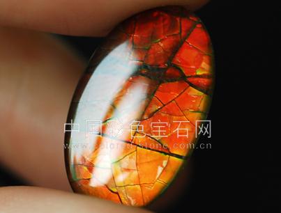 6.93橙红色斑彩石-加拿大